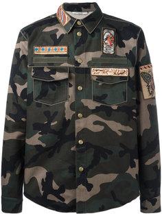 камуфляжная куртка с аппликацией  Valentino