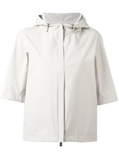 shortsleeved hooded jacket Herno