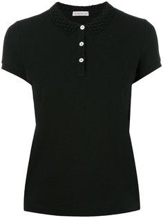 рубашка-поло с вырезными деталями на воротнике Moncler