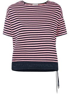 футболка в полоску с подолом на затяжках Moncler