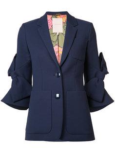 пиджак с бантами на рукавах Roksanda