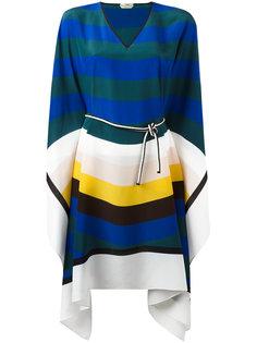 платье-кафтан в полоску Fendi