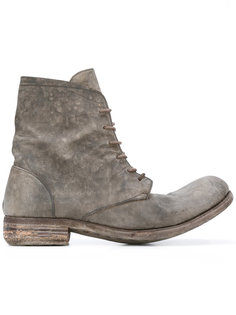 distressed lace-up boots A Diciannoveventitre