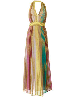 halterneck metallic long dress M Missoni