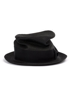 Braid silk trilby hat  Ca4la