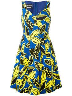 платье А-образного силуэта с принтом Boutique Moschino