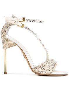 appliquéd sandals with asymmetric straps Loriblu