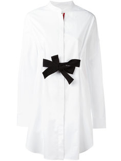 bow tie fronted shirt dress Moncler Gamme Rouge