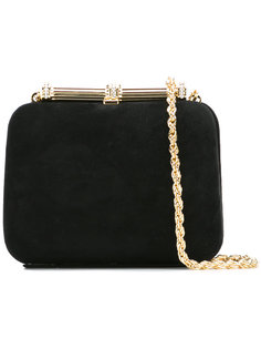 gold chain clutch bag Loriblu