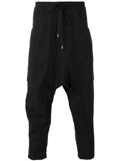 drop-crotch cropped trousers The Viridi-Anne