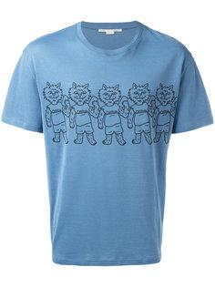 футболка с принтом кошек Stella McCartney