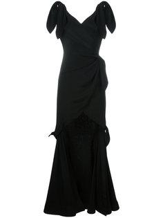 вечернее платье с драпировкой Moschino