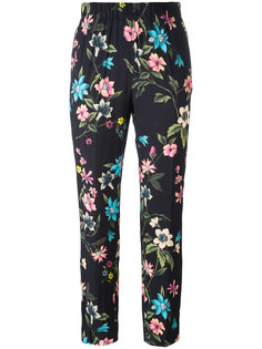 floral print cropped trousers Incotex