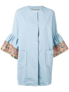embroidered sleeve coat Bazar Deluxe