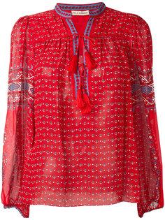 paisley print tassel detail blouse Ulla Johnson