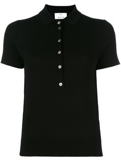 knitted short sleeve polo shirt Allude