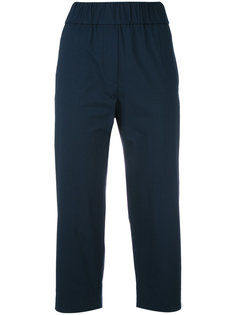 stretch-waist cropped trousers Alberto Biani