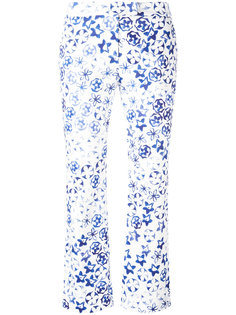 allover print cropped trousers Incotex