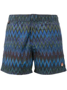 шорты для плавания с зигзагообразным принтом Missoni