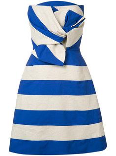 полосатое платье с бантом Delpozo