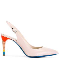 туфли с разноцветным каблуком Loriblu
