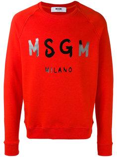 logo print sweatshirt MSGM