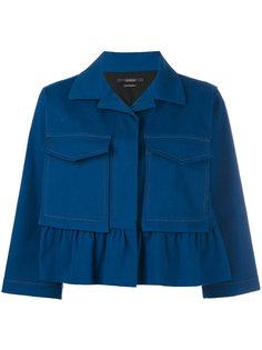 boxy cropped sleeve jacket Odeeh