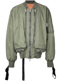 куртка-бомбер с молниями Unravel Project
