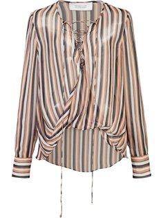 полупрозрачная полосатая блузка Derek Lam 10 Crosby