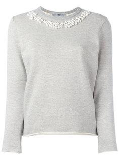 pearled trim sweatshirt  Comme Des Garçons Comme Des Garçons