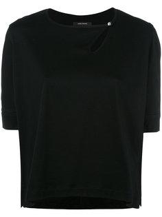 """футболка со смещенным вырезом """"замочная скважина"""" Isabel Marant"""
