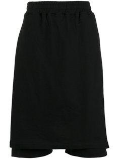 шорты с эластичным поясом и накладной панелью KTZ