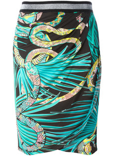 юбка со змеиным принтом Just Cavalli