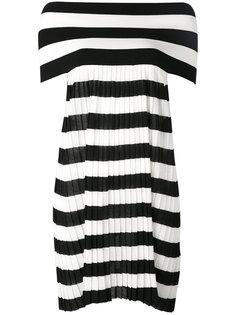 полосатое платье с открытыми плечами IM Isola Marras
