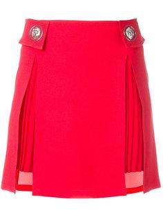 pleated trim studded skirt Versus