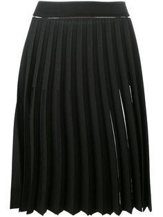 плиссированная юбка с прозрачными панелями Ssheena