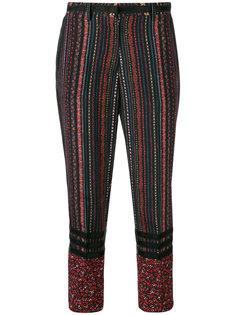 укороченные брюки с цветочными полосками Nº21
