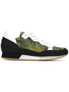 камуфляжжные кроссовки на шнуровке Philippe Model