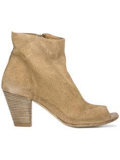 ботинки с эффектом змеиной кожи Officine Creative