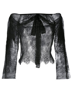кружевная блузка с приспущенными плечами Philosophy Di Lorenzo Serafini