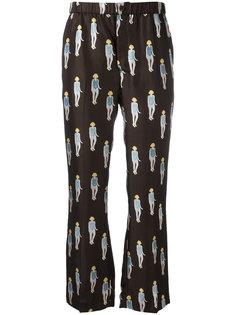 брюки с принтом девушек Dondup