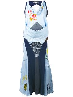 платье макси с лоскутным дизайном Junya Watanabe Comme Des Garçons