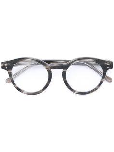 horn-rimmed round sunglasses Linda Farrow