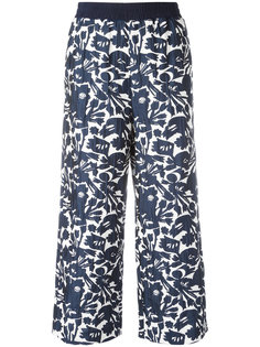 cropped floral print trousers IM Isola Marras