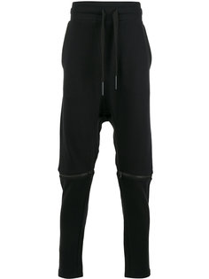 брюки с заниженной проймой и молниями на коленях Barbara I Gongini