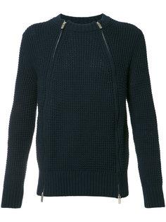 свитер с молниями Sacai