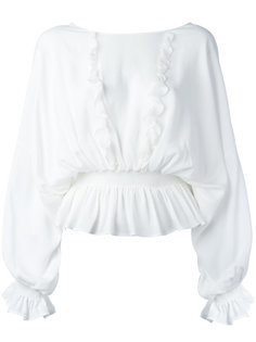 блузка с рюшами Just Cavalli