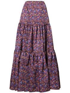 длинная юбка с цветочным принтом La Double J