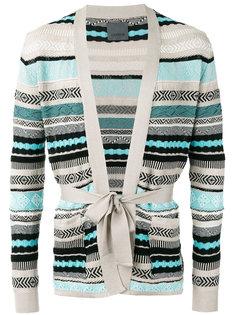 stripe tie-waist cardigan Laneus