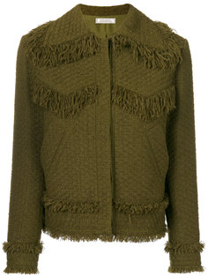 твидовая куртка с бахромой Nina Ricci